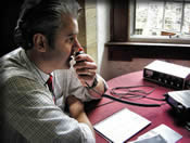 Ian (G0BMH) operating GB2IMG from the Banqueting Hall of Duart Castle